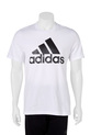 ADIDAS  ESSENTIAL LINEAR TEE, WHT-BLK, S