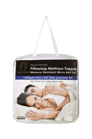 RAMESSES 1000Gsm Pillow Top Mattress Topper KingBed