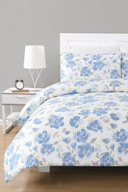 URBANE HOME Lara 225 Thread Count Polyester/Cotton Quilt Cover Set DB