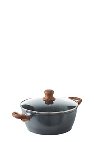 SMITH & NOBEL Woodlands Aluminium Casserole With Lid 24cm