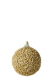 SOREN Classic Textured Ornament 6 Pack Rich Gold