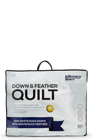 KILLARNEY 50% Down and Feather Quilt Single Bed