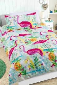 HAPPY KIDS Flamingoes in the Dark Quilt Cover Set SB