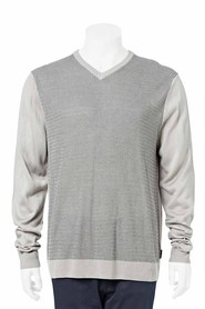 BRONSON V NECK TEXTURED KNIT
