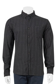 URBAN JEANS CO Long Sleeve Melange Check Shirt