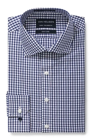 VAN HEUSEN NAVY CHECK SHIRT
