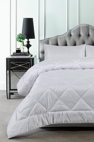 ACCESSORIZE Waffle 3pc Jacquard Comforter Set QueenBed