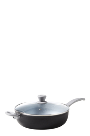 SMITH & NOBEL STELLAR GREY SPECKLE SAUTEPAN 30CM