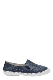 ISABELLA BROWN PERFORATED SLIP ON FELIX