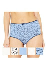 eabd39623 THE COLLECTION 5pk Bird And Sprig Full Brief