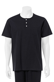 BRONSON MENS HENLEY SHORT SLEEVE SLEEP TEE