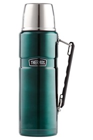 THERMOS  1.2L Stainless Steel King Vaccumn Flask Green
