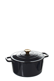 SMITH & NOBEL Traditions 5L Cast Iron Casserole Black