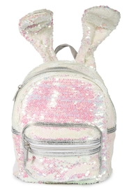 IS GIFT Sequin Bunny Ears Backpack