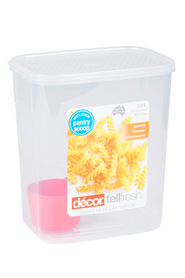 DECOR Tellfresh Plastic Tall Oblong Food Storage Container 3 Litre