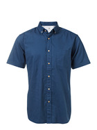 WEST CAPE CLASSIC MENS CASUAL OXFORD SOLID SHORT SLEEVE SHIRT