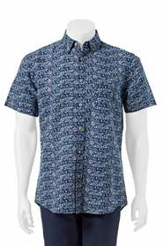 WEST CAPE CONTEMPORARY PRINTED LINEN COTTON SHIRT