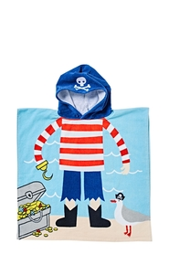 SOREN VELOUR KIDS BEACH PONCHO PIRATE
