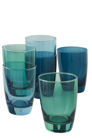OCEAN 6PC TIARA GREENS TUMBLER SET