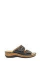 NATURAL COMFORT EMERY LEATHER DOUBLE STRAP SANDAL